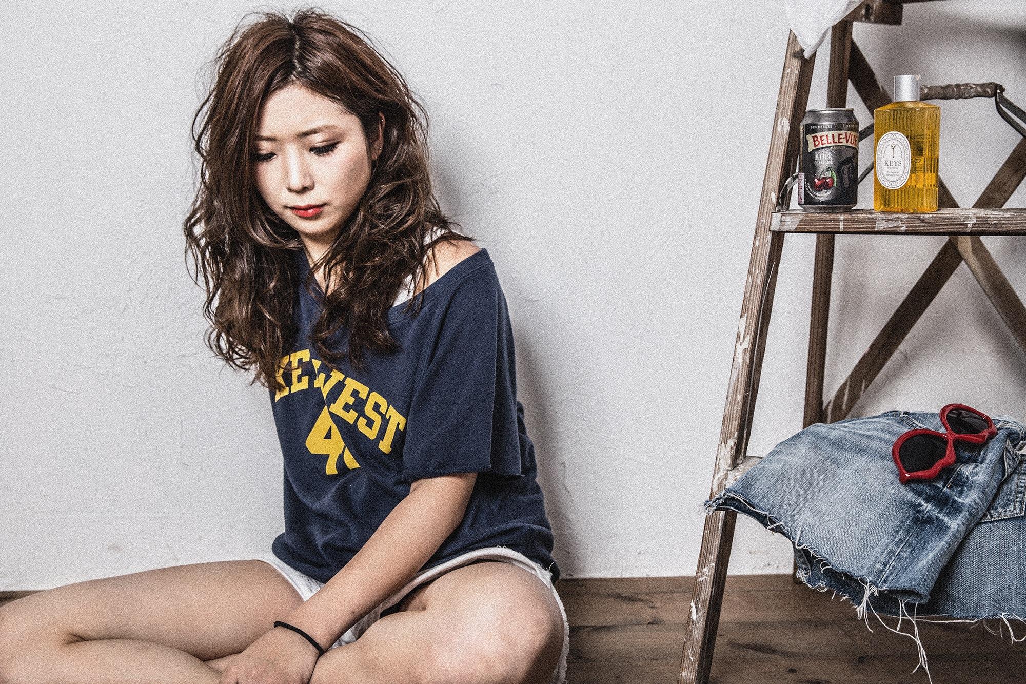 バサッとニュアンスのウェットロング 亀有の美容師木暮のブログ