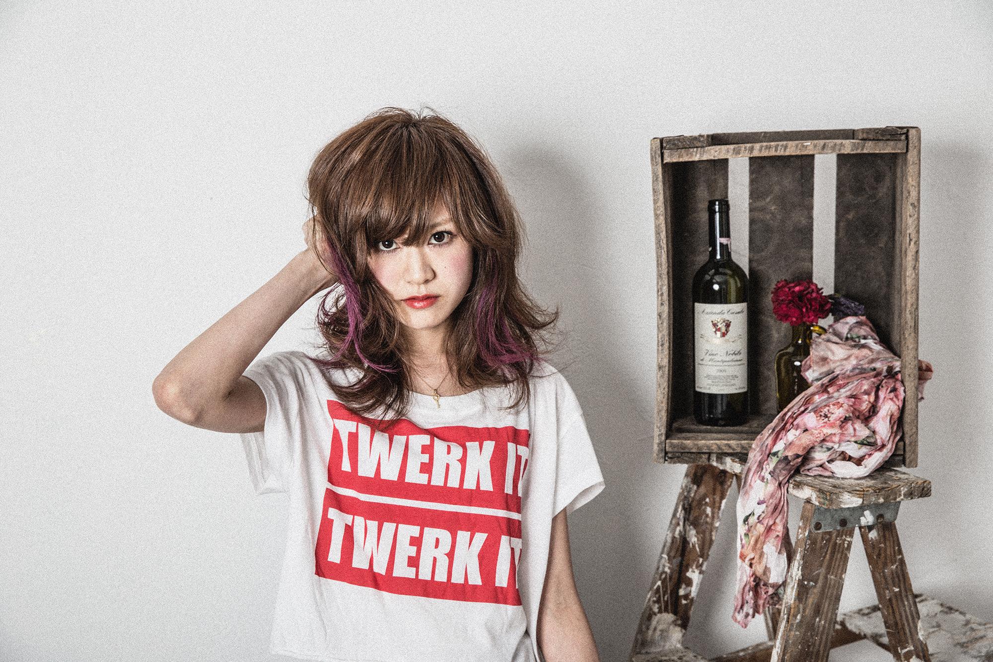 アクセサリーカラーのミディアムスタイル 亀有の美容師木暮のブログ
