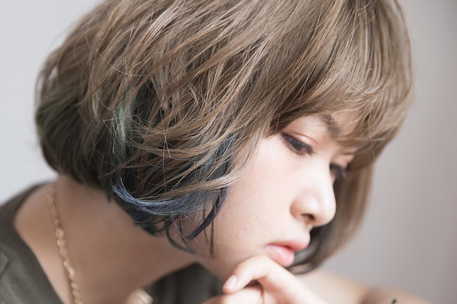 多色染めカラーバターの仕上がり写真 亀有の美容師 木暮史明のブログ