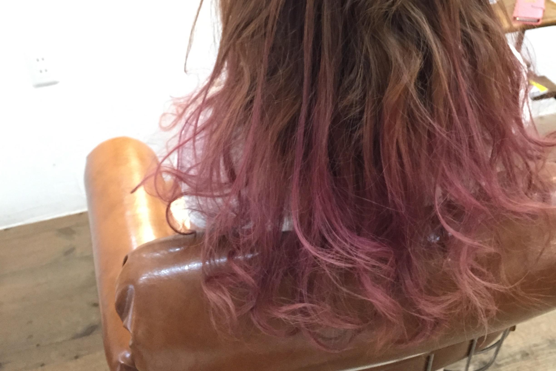 カラーバターを使ったピンクのグラデーションカラー 亀有の美容師木暮史明のブログ