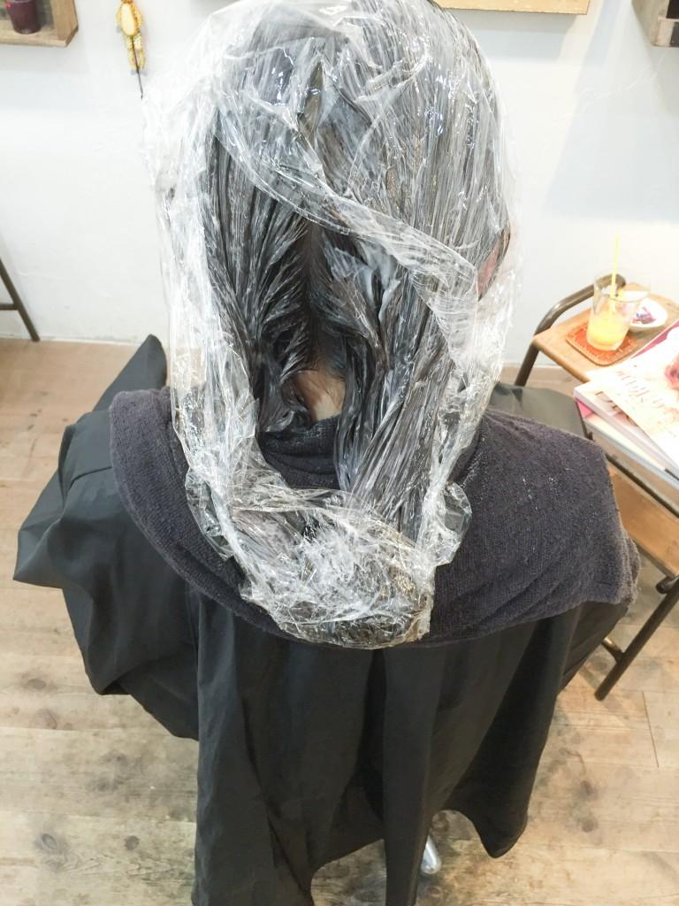 亀有美容室ラ・シュシュダブルプロセスのヘアカラー