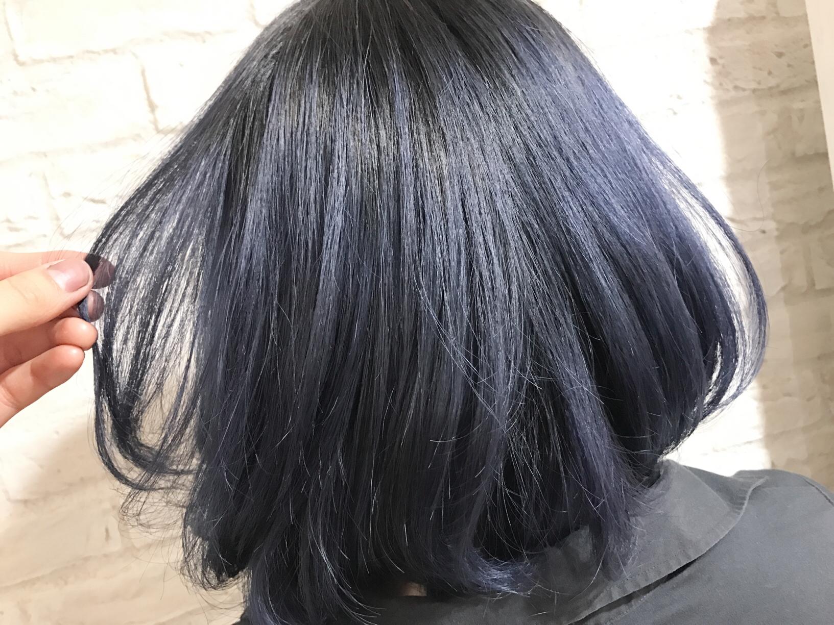 ブルー なし ネイビー ブリーチ 今、人気のネイビーグレーに染めるのに必要なベースの明るさについて