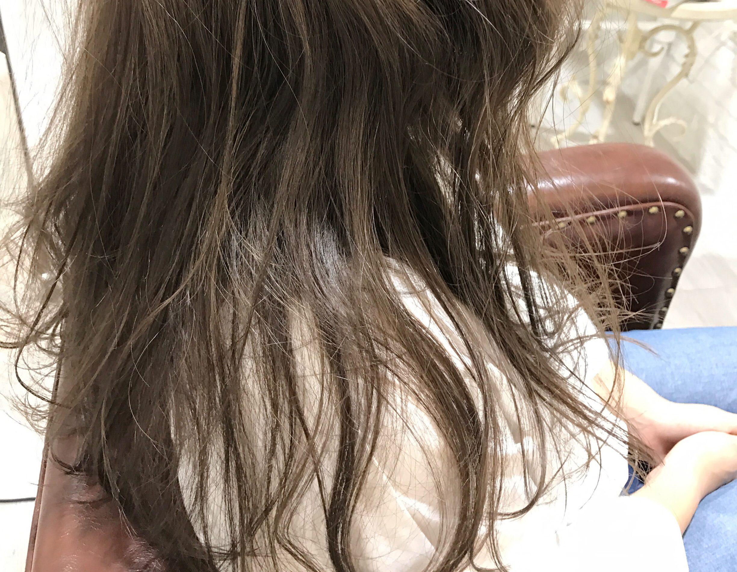 カラーモデル18 バージン毛からの明るめベージュ!!