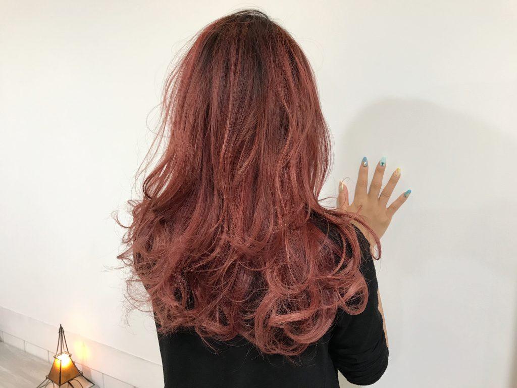 アリエルのような赤い髪にしたいお客様